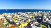 canárias : Panorama of the city of Las Palmas de Gran Canaria, Canary Islands, Spain. Aerial view from belltower of the Cathedral of Santa Ana. Beautiful seascape and old town on the background. Time Lapse Vídeos