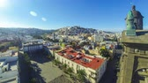 kanárské ostrovy : Panorama of Las Palmas de Gran Canaria city, Canary Islands, Spain. Aerial view from belltower of the Cathedral of Santa Ana. Plaza de Santa Ana and old town on the background. Time Lapse. 4K UltraHD