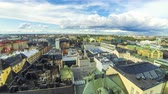 finn : Panoramic aerial view of Helsinki city, capital of Finland. Time Lapse. 4K UltraHD video