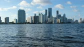 эт : Downtown Miami Skyline at Sunset in Color