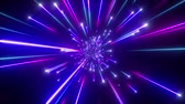 3d render, big bang, galaxy horizon, abstract cosmic background, celestial, beauty of universe, speed of light, fireworks, ultraviolet blue neon glow, stars, cosmos, infrared light, outer space, 4k animation Стоковые видеозаписи