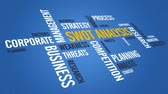 management : Swot Analysis Stock Footage
