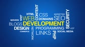 web design : Web Development Text Animation Stock Footage