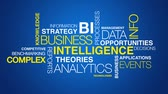 sale : Business intelligence word cloud text animation