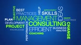 üzlet : Management Consulting word cloud text animation