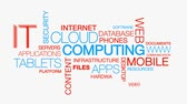 Animation de texte cloud Computing mot le Cloud
