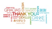 английский : Thank you in different languages text cloud