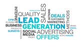 word cloud business : Lead Generation Word Cloud Animation