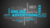 Online Advertising Word Cloud Animation  Stock Footage