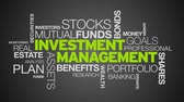 aktien : Investment Management Word Cloud Animation