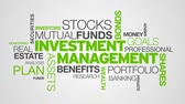 pensão : Investment Management Word Cloud Animation