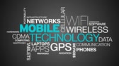 cellular : Mobile Technology Word Cloud Animation Stock Footage