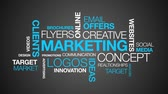 word cloud business : Marketing word cloud Animation Stock Footage