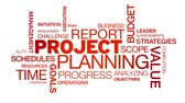 strategy : Project Planning Word Cloud Animation Stock Footage