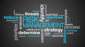 typography : Risk Management Word Cloud on dark background