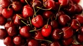 Heap of ripe juicy sweet cherries