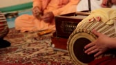 hare : Krishna plays on Indian musical instruments