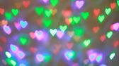 moving image : Blinking colorful garlands bokeh in valentine day Stock Footage