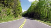 dumanlı : Driving on an empty road on a bright summer day in the Smoky Mountains National Park