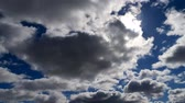 Clouds on a blue spring sky. 動画素材