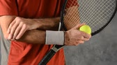лекарство : tennis player massaging elbow