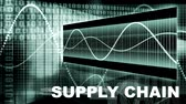 chain : Supply Chain Management Processes As a Concept Stock Footage