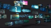 digital : Video Wall with Multiple Screens Moving Endless Loop