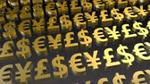 idegen : Currency Symbols Seamless Loop in Gold