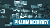 engenharia : Pharmacology Medical with Moving Screens Video Wall Background Looping