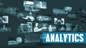 dynamique : Analytics Business avec des écrans en mouvement Video Wall Background Looping