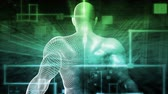 Digital Health System Software and Body Technology as Concept Stock Footage