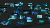Futuristic Video Wall with Virtual Hologram Projection