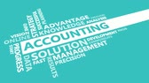 conceito : Accounting Presentation Background in Blue and White