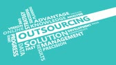 Outsourcing Presentation Background in Blue and White