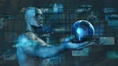 Futuristic Technology and Online Digital Network Art Stock Footage