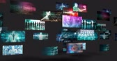 вещать : Video Screens Abstract Background for Multimedia Concept