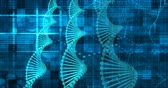 sciences : Science Technology Medical Abstract Background with DNA Vidéos Libres De Droits