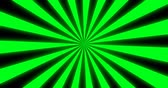 Sunray Background in Green and Black Rays Looping