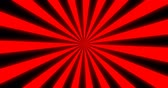 Sunray Background in Red and Black Rays Looping Stok Video