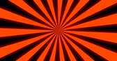 radial : Sunray Background in Orange and Black Rays Looping Stock Footage