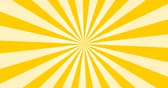 Sunray Background in Yellow and White Rays Looping