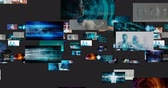 parede : Content Marketing on a Video Wall as Digital Concept Stock Footage