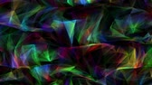deformado : Abstract computer generated seamless loop geometrical motion from chaotic slow moving surface from triangles 4K abstract geometrical animation
