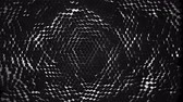 A lot of black hexagons on the surface of the whole screen, volumetric wave-like movement of rhombs densely adjacent to each other, slow motion 4K abstract background Stock Footage