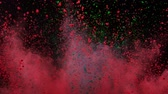 rozdrtit : Colorful powder exploding on black background in super slow motion.
