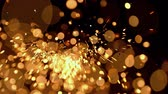 farbexplosion : Abstract gold bokeh lights