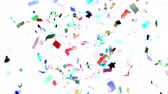 Colored Confetti Background in Super Slow Motion