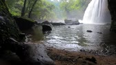 skály : haew suwat water falls in khao yai national park important natural destination in thailand