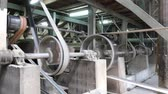 cinto : old machine working by water steam engine in agricultural factory