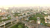 desenvolver : aerial view of express way in heart of bangkok